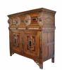 Exceptional fivedoor Dutch cupboard, 17th century.