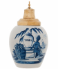 A Blue and White Dutch Delft Tobaccojar 'Tonka'