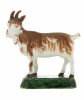 A Polychrome Model of a Standing Goat in Dutch Delftware
