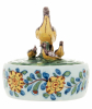 A Polychrome Butter Terrine with Lapwing Bird Cover