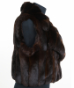 FW 2005 Roberto Cavalli Runway Chinchilla Fur Brown Sleeveless Jacket - Roberto Cavalli
