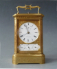 French carriage clock signed Bourdin Horloger, calendar, grande sonnerie, Paris 1840-50.
