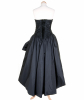 1960s LOP Black Cascading Cocktail Dress