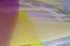 Willem Heesen, Grote bolvaas, transparant glas met kleurlagen in geel en roze, 1989 - Willem Heesen