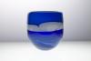 Willem Heesen, 'Blue River', Unieke vaas met blauwe en witte kleurlagen, 2001 - Willem Heesen
