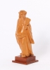 A lovely Chinese carved boxwood sculpture of a man, circa 1920.