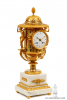 A large French ormolu and marble urn mantel clock by Thomire, circa 1800