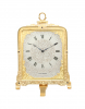 An English engraved gilt brass Cole strut clock, retailer Hunt & Roskell, circa 1855