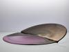 Willem Heesen, Unique glass object 'Plompeblad' in pink and bronze, Studio de Oude Horn, 1986 - Willem Heesen