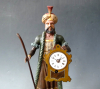 A Schnappuhr or so-called Schaufensteruhr, Black Forest clock, circa 1840.