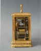 A fine gorge case  carriage clock signed Drocourt, eight day, calendar and alarm, France, dated  1868.