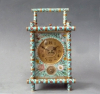A bamboo case carriage clock with floral decorations, striking and alarm,  W. Gabus,  Moscow, circa 1880.