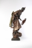 A rare and attractive French bronze patinated metal sculptural 'Oriental' timepiece, circa 1880.