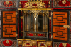 Flemish Lacquer inlaid and Tortoiseshell Cabinet-on-stand,  Antwerp