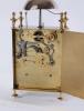 A French brass striking alarm 'Capucine' travel clock, circa 1830