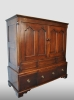 Small english cabinet in a beautiful patina, oak, 18th century.