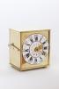 A rare German brass alarm travel clock with travel case, circa 1770