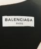 Balenciaga Black Draped Dip Hem Top - Balenciaga