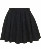 Dries Van Noten Black Jacquard Skater Skirt - Dries van Noten