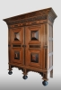 Dutch cupboard, oak, second half 17th century.