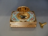 Griesbaum singing bird box automaton, gold and enamel miniature painting, c.1900