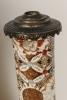 Een fantastisch paar Satsuma vazen, voormalige olielampstandaards.