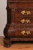 A fantastic Dutch burr walnut bureau bookcase with mirror doors, circa 1740.