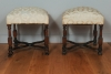 A pair of French stools, circa 1850.