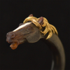 Goud/hoorn paardenarmband