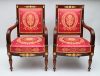 A pair of Empire fauteuils, signed Chapuis