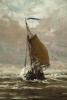 Fishing boats returning home at Scheveningen - H.W. Mesdag