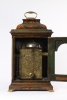 An English lacquered chinoiserie bracket clock, circa 1750