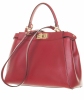 Fendi Red Leather Peekaboo Medium - Fendi