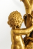 Een paar grote verguld bronzen figuratieve lampen toegeschreven aan E.F. Caldwell, circa 1900.