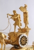 An attractive French Empire ormolu sculptural chariot mantel clock, by Le Roy, circa 1800