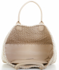 Bottega Veneta Alabastre Woven Intrecciato Wool Leather Cabat Tote - Bottega Veneta