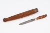 Fine carved knife in case