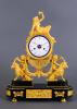 A French ormolu bronze Louis Seize mantel clock