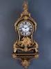 A large French Louis XV Boulle console clock with quarter striking mechanism 'Antoine Pelletier à Paris