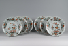 A set of six Chinese Famille Verte dishes