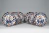 A set of six porcelain Chinese Imari dishes