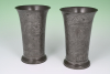 A set of two Dutch pewter  beakers