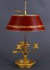 A bronze ormolu Empire Bouillotte lamp