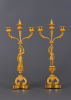 A pair of Charles X French candelabra, around 1825