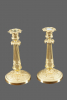 A pair of French late Empire candlesticks, around 1810