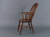 An English Windsor Chair made of yew and elm wood, around 1825