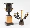 Een stel bronzen Charles X  coupes / kandelaars.