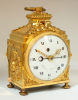 A fine Swiss gilt bronze pendule d'officier, Robert & Courvoisier, circa 1790.