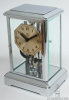 A French art deco chrome electric table clock, Bulle clock, circa 1925