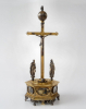 Renaissance crucifix clock, gilt, by Georg Schulz Königsberg,  2nd half 17 century.